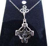 Pendentif croix celtique argent