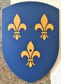 Bouclier Fleur- de- Lys 27 x 37 cm courbé