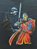 T- Shirt enfant chevalier rouge pleine lune