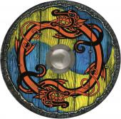 Bouclier rond viking avec bosse en métal