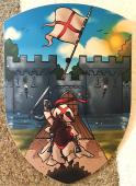 Bouclier Camelot 27 x 37 cm courbé