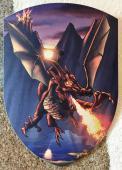Bouclier Dragon Volant Ignis 27 x 37 cm courbé