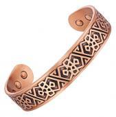 Bracelet magnétique cuivre EPINETTE - 6 aimants