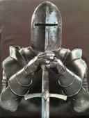 T-Shirt gris chevalier en armure