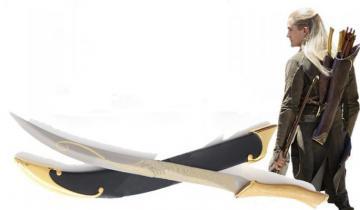 Dague de Legolas + fourreau (Le Seigneur des Anneaux)