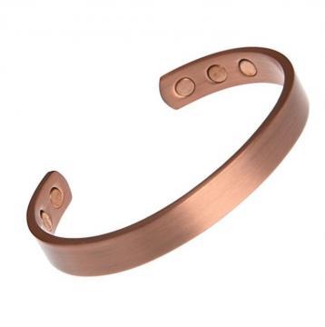 Bracelet magnétique cuivre BRUNELLE - 6 aimants - 18 cm