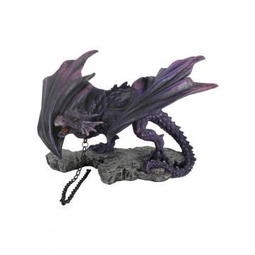 Dragon violet avec chaîne