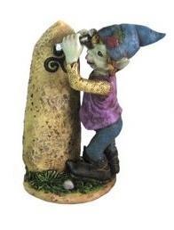 Elfe sculteur menhir triskell avec bonnet bleu 65x55x125