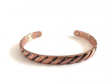 Bracelet cuivre - magnétique AROMA - 6 aimants