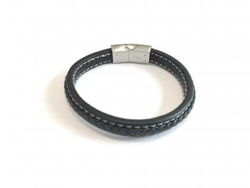 Bracelet cuir aimanté triskell