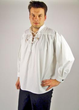 Chemise pirate blanche