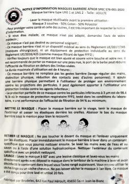 Masque barrière breton (Hermines)