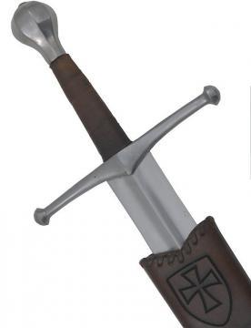 Epée médiévale allemande forgée + fourreau cuir