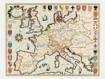 Carte de l'Europe en 1500