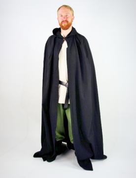 Cape en coton avec capuche courte