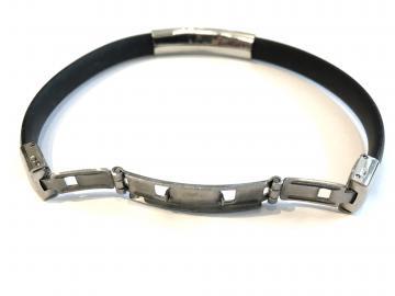 Bracelet caoutchouc réglable triskell hermine