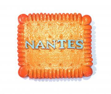 """Magnet relief résine """"Biscuit Nantes"""""""