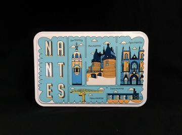 Boîte métal Grands Sablés - 175g - Nantes