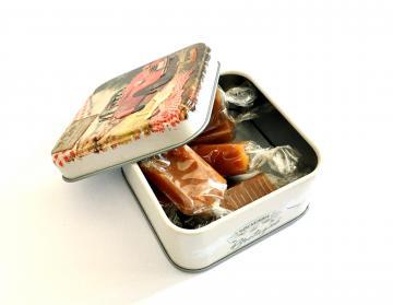 Boîte métal caramels beurre salés - Bretagne 2 cv