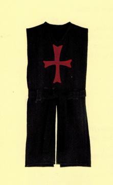 Tunique templier, noire