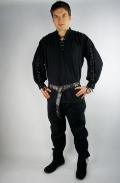Chemise avec cordes sur les manches