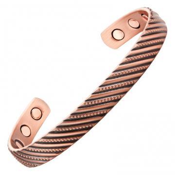 Bracelet magnétique cuivre EGLANTINE - 6 aimants