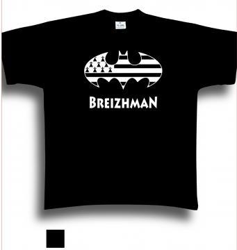 T- shirt Breizhman, taille S,M,L, XL, XXL