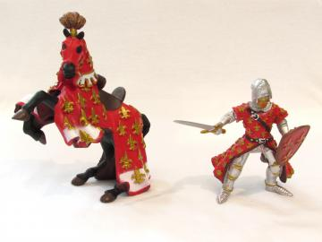 Prince Philippe et son cheval rouge