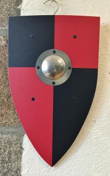 Bouclier normand noir/rouge 30 x 50 cm