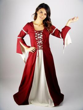 Robe médiévale avec manches trompette