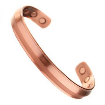 Bracelet magnétique cuivre JONC - 6 aimants