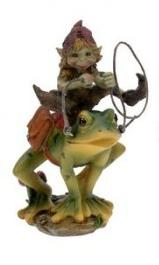 Elfe sur grenouille