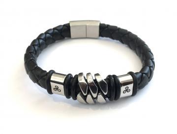 Bracelet cuir et acier