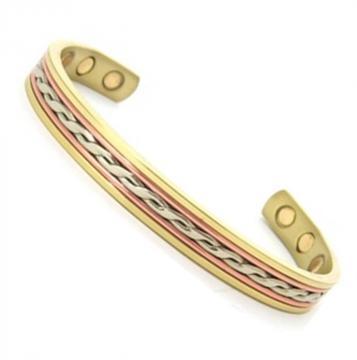 Bracelet magnétique cuivre OXALIS - 6 aimants