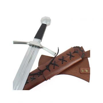 Epée de frappe + fourreau cuir