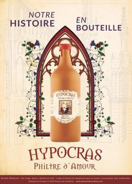 """Hypocras rouge """"Philtre d'amour"""", en grès 75cl"""
