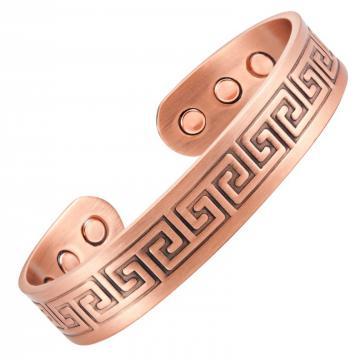 Bracelet magnétique cuivre CURRY INCA - 6 aimants