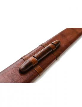 Epée de frappe viking avec fourreau en cuir marron