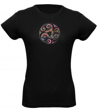 T- Shirt Femme triskell + strass