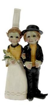 Couple d'elfes mariés 15 cm