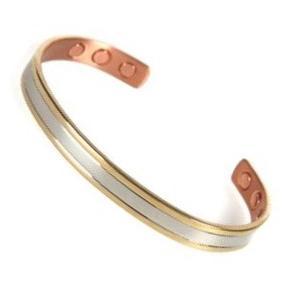 Bracelet magnétique cuivre MUSCARI - 6 aimants