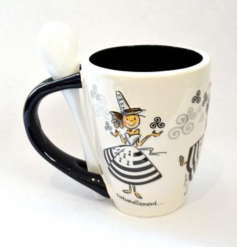 Mug bretonnes + cuillère