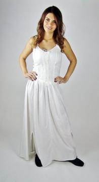 Robe type corselet en rayon blanche