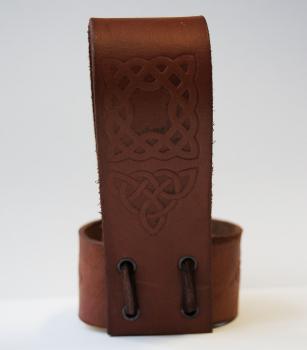 Porte- corne en cuir marron
