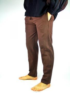 Pantalon en coton tissé à la main