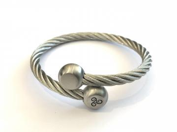 Bracelet acier torsadé triskell
