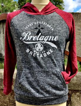 Sweat capuche bi- colore Bretagne