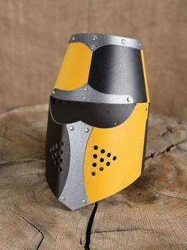 Casque normand noir/jaune