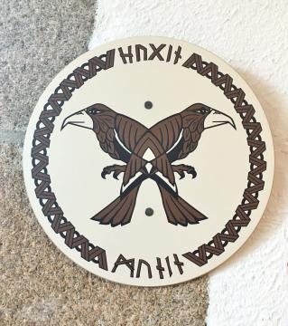 Bouclier viking Hugin & Munin