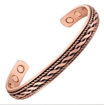 Bracelet magnétique cuivre CELTE - 6 aimants